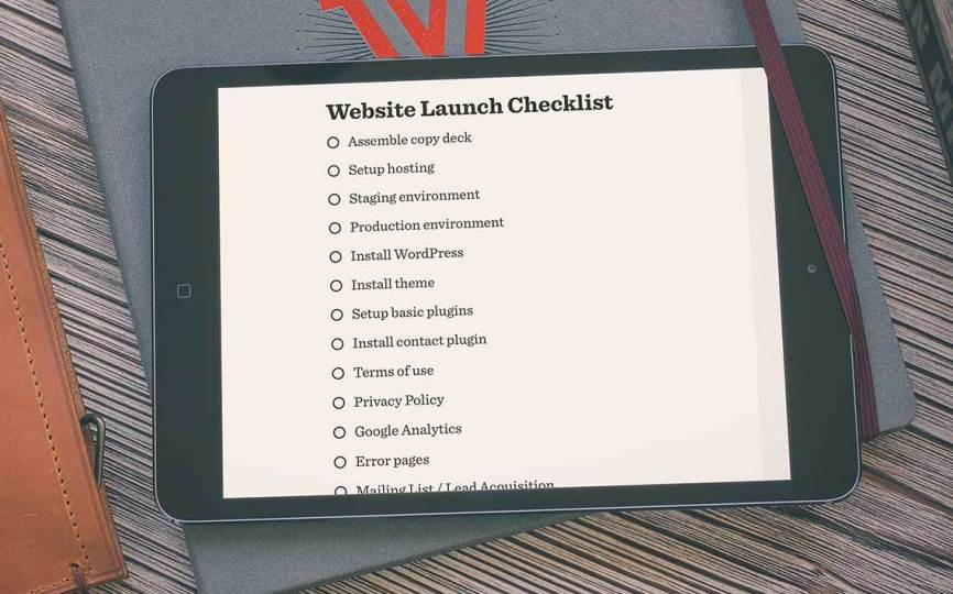 wordpress website lanuch checklist