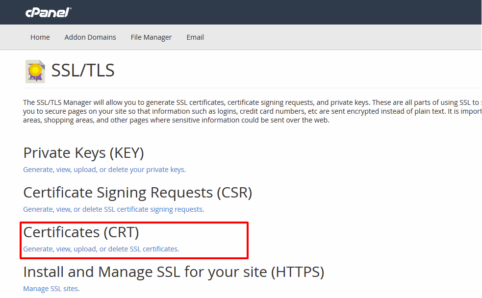 install ssl certificate on cpanelcPanel Server Security Tips