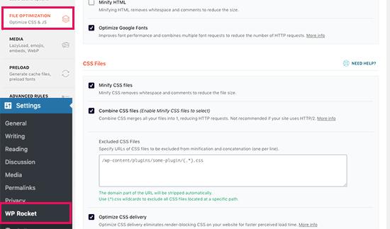 WP rocket plugin to Reduce Render-Blocking JavaScript and CSS
