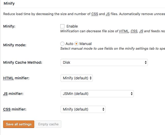 minify-settings