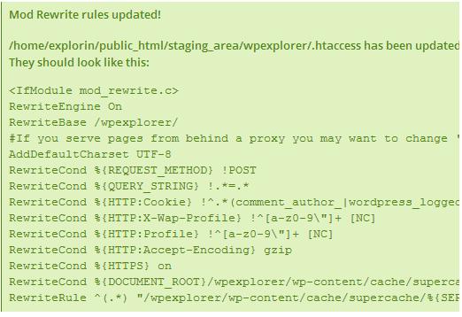 wp-super-cache plugin .htaccess example